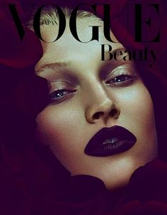 Toni Garrn in 'Dark Shades of Roses' by Ben Hassett for Vogue Japan Deceber 2013
