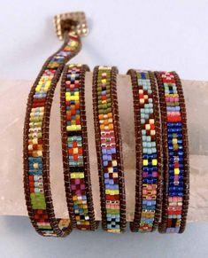 Southwestern Wrap Bracelets with Cindy Kinerson #beads #weaving #Southwestern…