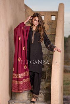 Black salwar suit indian bollywood top kurti palazzo full stitched new designer Pakistani Kurta Designs, Pakistani Dress Design, Silk Kurti Designs, Kurta Designs Women, Pakistani Fashion Party Wear, Pakistani Outfits, Black Salwar Suit, Black Kurti, Stylish Dresses