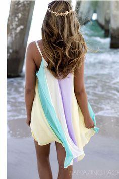 Tidal Wave Multi Color Dress