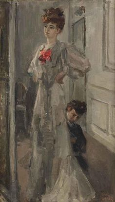 Isaac Israels (Amsterdam The Hague), The new dress signed 'Isaac Israels' (lower right). Oil on canvas, x cm. Painted circa Dimensions: x cm. Renoir, Monet, La Haye, Royal Academy Of Arts, A Level Art, Dutch Painters, Dutch Artists, Vintage Artwork, Art Themes