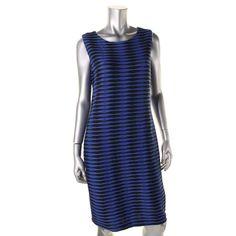 Calvin Klein 8285 Womens Textured Sheath Casual Dress Bhfo