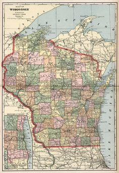 Maps Wisconsin Map Indian Land Cessations Wisconsin - Wisconsin map
