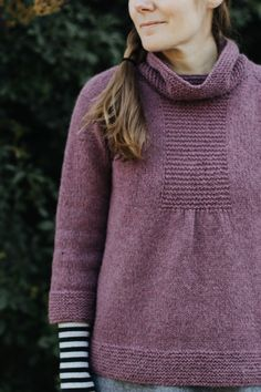 Cozy pullover with a flattering shape.