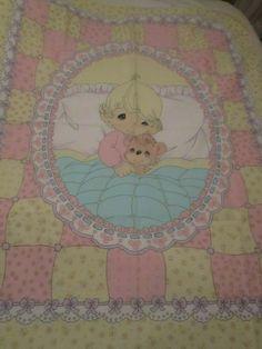 Antique Tiny Daisy Bubble Cotton Floral Fabric~pale blue~dolls bears quilts
