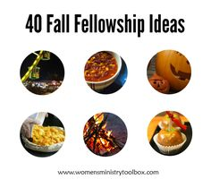 40 Fall Fellowship Ideas on Women's Ministry Toolbox - Great ideas for your women's ministry, small group, or ladies night out!
