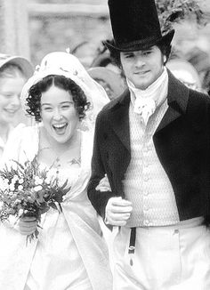 Elizabeth Bennet and Mr Darcy on their wedding day! (Pride and Prejudice, 1995)