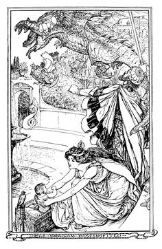 Henry Justice Ford - The olive fairy book, edited by Andrew Lang, 1968 (illustration 1)