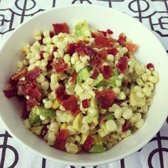 Bacon, Avocado, and Corn Salad - designer bags and dirty diapers