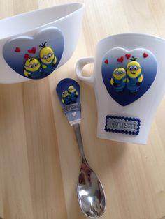 Minions polymer clay mug spoon & bowl