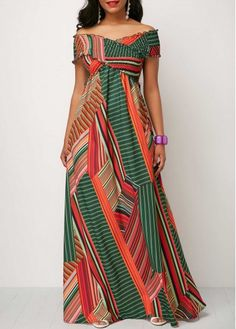 Long Maxi Dresses Off the Shoulder Shirred Detail Printed Maxi Dress Long Fall Dresses, Cheap Maxi Dresses, Casual Dresses, Dresses Dresses, Elegant Dresses, Casual Outfits, African Fashion Designers, African Fashion Dresses, Fashion Outfits