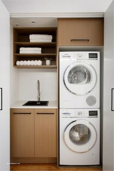 """Explore our internet site for more relevant information on """"laundry room storage diy small"""". It is a superb place to read more. Laundry Room Layouts, Laundry Room Remodel, Small Laundry Rooms, Laundry Dryer, Laundry Closet, Laundry Room Organization, Laundry Cupboard, Laundry Shelves, Basement Laundry"""