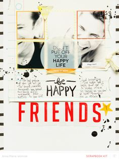 #papercraft #scrapbook #layout. FRIENDS by ania-maria at @studio_calico