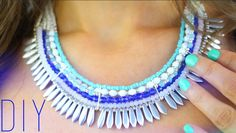 DIY | Do it yourself | By Isnata: DIY - TUTO : Collier plastron en perles (beaded statement necklace)