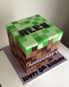 Minecraft Themed Cake on Cake Central