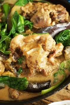 There is no need of Mama Sita's Kare-Kare mix here. This Kare-kare, my friends, is made from scratch and SLOW-COOKED. The sauce tastes like it has Kare Kare mix in it  and you can scrap out the tho...