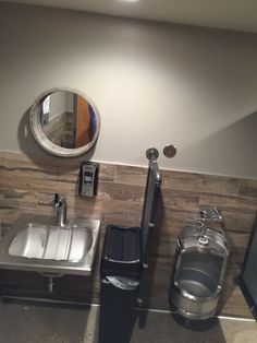 Toby really likes this one. Meh. The urinal was a keg and so was the sink and the faucet is a tap