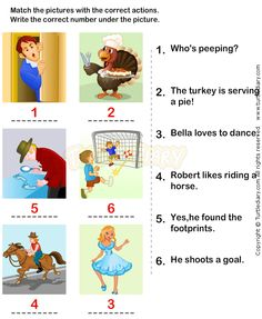 Action Verbs Worksheets 11 - esl-efl Worksheets - kindergarten Worksheets