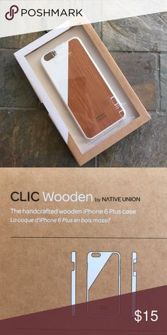 Brand NEW! Native Union phone case Brand New! Beautiful phone case with real wood inlay gives it a unique natural design. Native Union Accessories Phone Cases