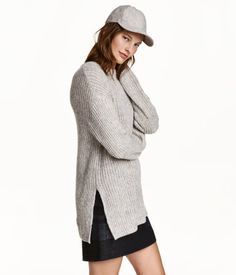Oversized tröja   Ljus gråmelerad   Dam   H&M SE