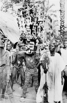 Masquerade from the Nri-Awka Igbo region. Photo byEdward Harland Duckworth, late 1940s.