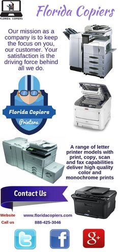 We would like to thank you for considering Xerographic Digital Solutions Inc., doing business in the state of Florida as Florida Copiers. We happily serve Hillsborough, Pasco, Pinellas and surrounding counties  	http://www.floridacopiers.com/