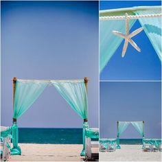 2-Post Bamboo Arbor - Sun & Sea Beach Weddings