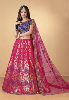 50edaf1b768a7d We have the widest party wear lehenga choli collection. Buy this blissful  embroidered