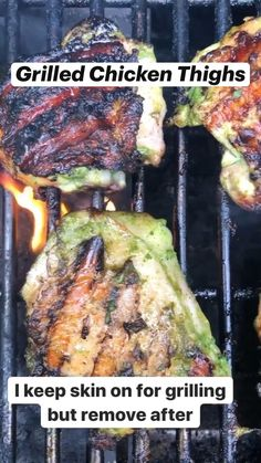 Fish Recipes, Paleo Recipes, Appetizer Recipes, Cooking Recipes, Dinner Recipes, Healthy Grilling Recipes, Healthy Chicken Recipes, Healthy Food, Grilled Chicken Thighs