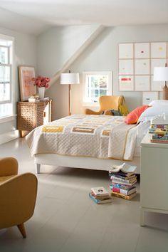 New England Cottage - contemporary - bedroom - new york - Pierce Allen