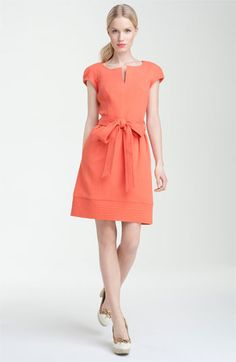 Milly Hayley dress, made of textured cotton.  I like the hem band with the decorative stitching.