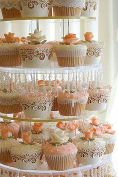 Cupcakes mesa de postres