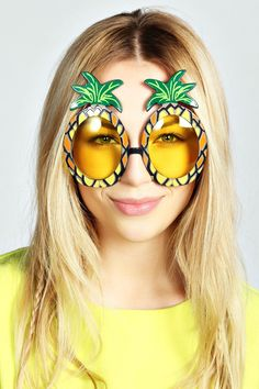Pineapple Novelty Sunnies. Because #obviously  cheap fashion women sunglasses