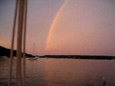 Rainbow viewed from the Christeen in Oyster Bay Harbor