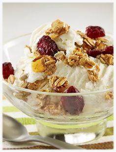 Yogurt Sundae Topped with Granola