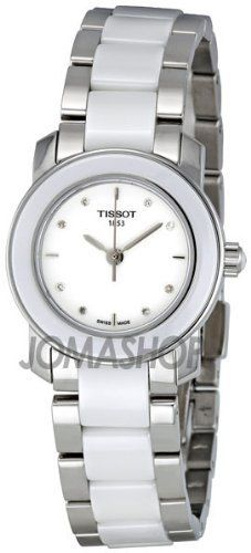 Tissot T-Trend White Ceramic Diamond Ladies Watch T0642102201600 Tissot. $413.90. Save 30% Off!