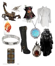 """""""Daughter of Hephaestus"""" by a-ms-valdez ❤ liked on Polyvore featuring Garrard and Ellie"""