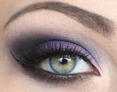 bridal purple smokey makeup