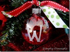 Homemade Christmas ornament-makes a great gift!