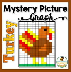 ⭐️ Students will love discovering the cute turkey mystery picture by coloring in the correct squares using the coordinates given. Two different work pages are included for differentiation! ⭐️ Great activity for Thanksgiving week! Primary Teaching, Teaching Math, Teaching Ideas, Graphing Activities, Craft Activities, Library Lessons, Art Lessons, 4th Grade Math, Third Grade