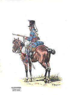 Hussard 1er rgt 1813-1814.