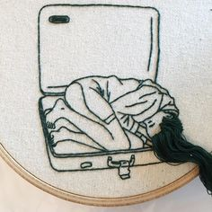 New Photos hand sewing illustration Ideas Embroidery Art and Hand Craft Artist-Model: Sheena Liam Diy Embroidery Art, Hand Embroidery Patterns, Embroidery Designs, Artists And Models, Sewing Leather, Creative Artwork, Handicraft, Fiber Art, Hand Sewing
