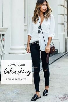 Discover recipes, home ideas, style inspiration and other ideas to try. Look Casual Chic, Look Chic, Casual Looks, Indie Outfits, Chic Outfits, Fashion Outfits, Fashion Trends, Looks Camisa Jeans, Relaxed Outfit