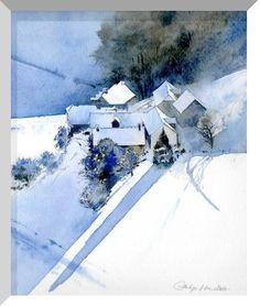 Philippe Lhez - au pied du mont Bédat Bagnères-de-Bigorre #watercolorarts