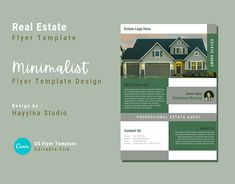 Minimalist Real Estate Flyer Template on Behance Real Estate Flyer Template, Business Flyer Templates, Real Estate Flyers, Real Estate Business, Presentation Magazine, Annual Report Covers, Brochure Layout, Business Brochure, Print Templates