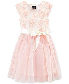Pink & Violet Girls' Soutache Dress