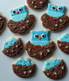 Google Image Result for http://theartofthecookie.com/wp-content/uploads/2012/04/Baby-Shower-Owl-Cookies.jpg