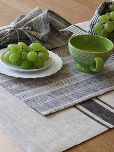 natural multistriped linen placemat by linenme | notonthehighstreet.com