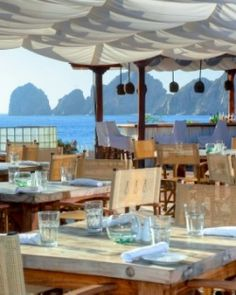 Los Cabos, Baja California, Mexico Nikki Beach's restaurant offers up a crowd-pleasing international menu, plus stellar sea views. #Jetsetter