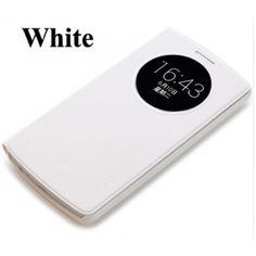 LG G3 Rock Quick Circle Leather Case White
